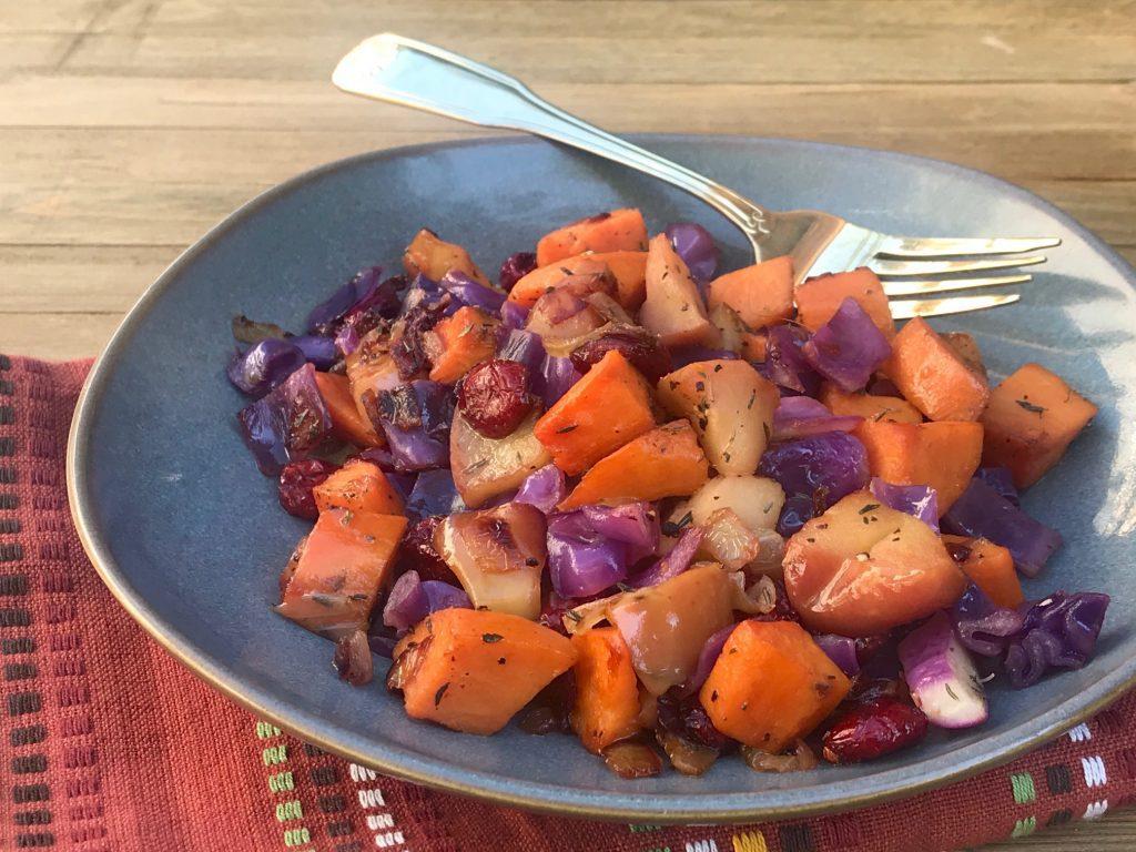 Cranberry Apple Sweet Potato Hash