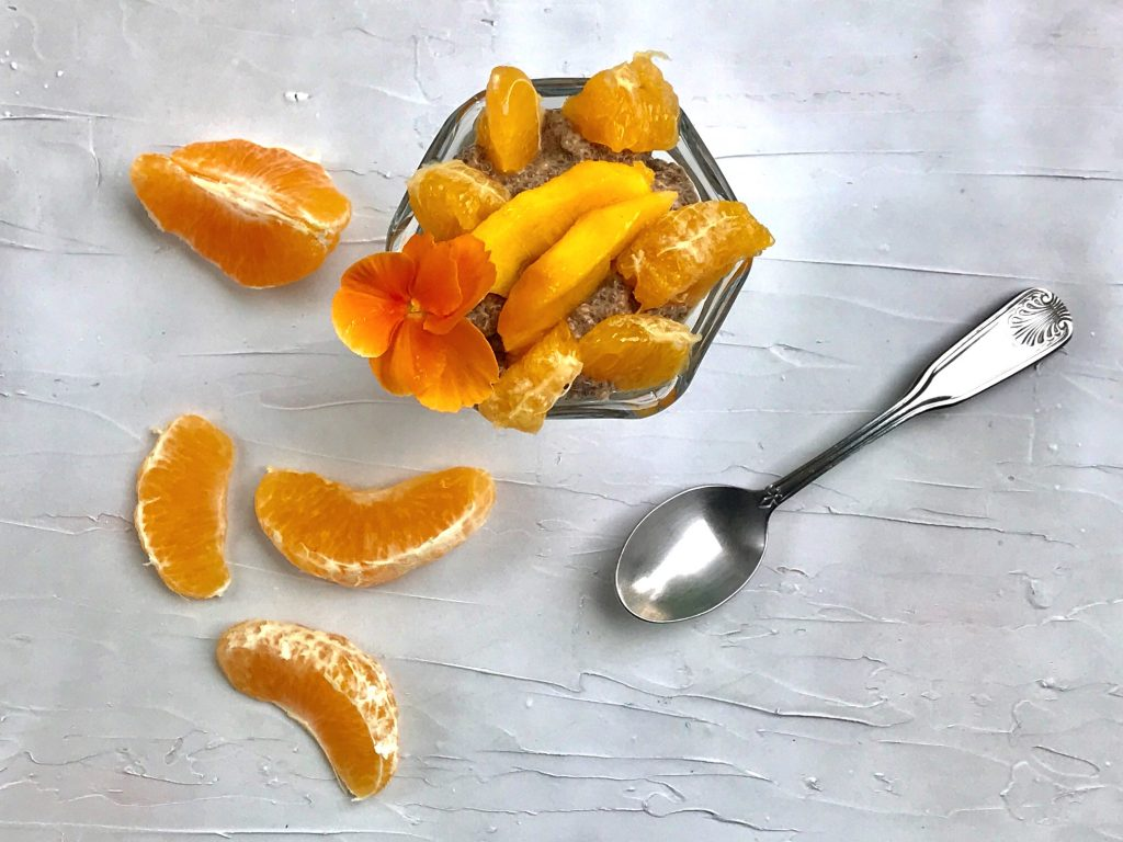 Tangerine Chia Seed Pudding with Protein Powder