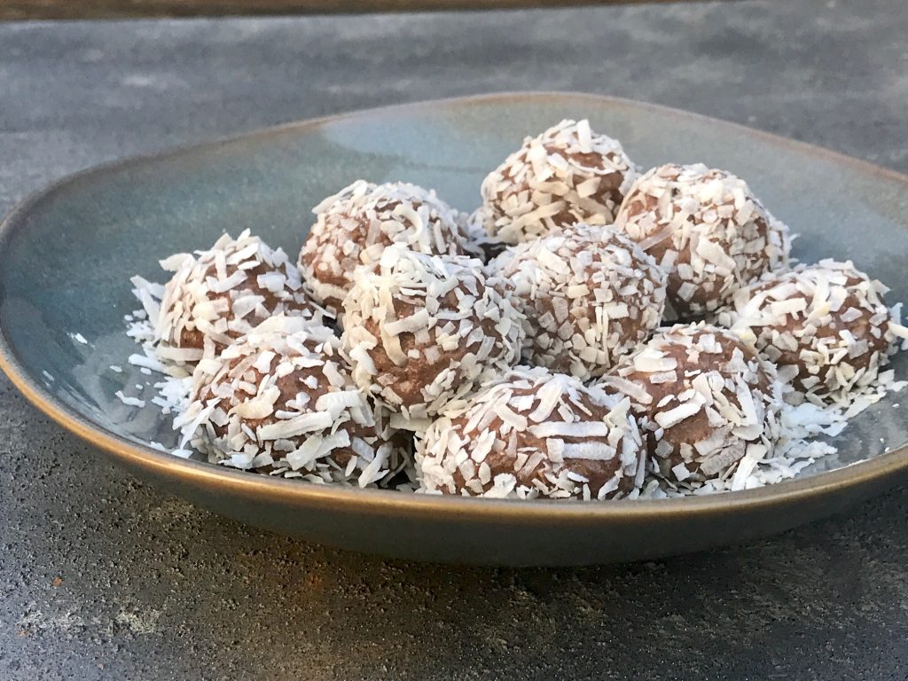 Cacao Coconut Sunbutter Balls